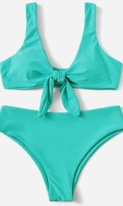 Other - Knot front bikini set- turquoise